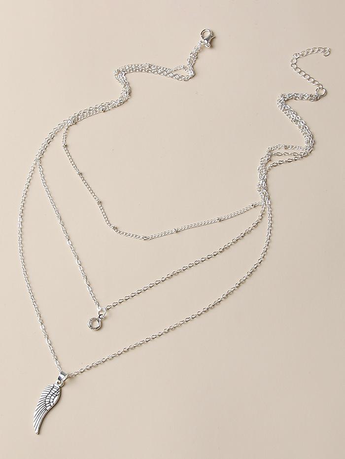 zaful Wing Pendant Layered Necklace