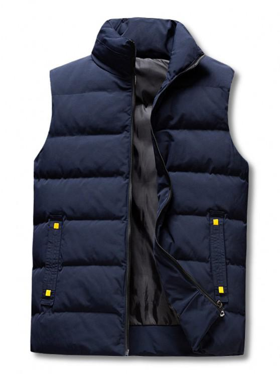 latest Zip Up Padded Vest - DEEP BLUE XL