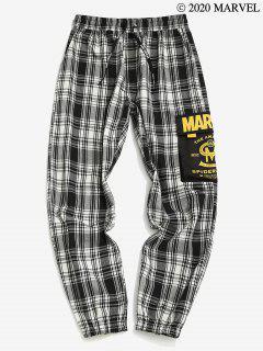 Marvel Spider-Man Plaid Cargo Pants - Black 2xl
