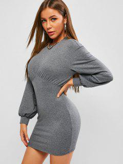 ZAFUL Underbust Bodycon Mini Dress - Gray Goose S