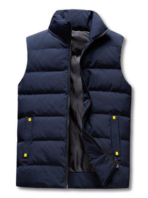 ladies Zip Up Padded Vest - DEEP BLUE XS Mobile