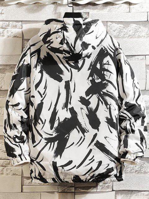 Veste Matelassée à Capuche Imprimée - Blanc S Mobile