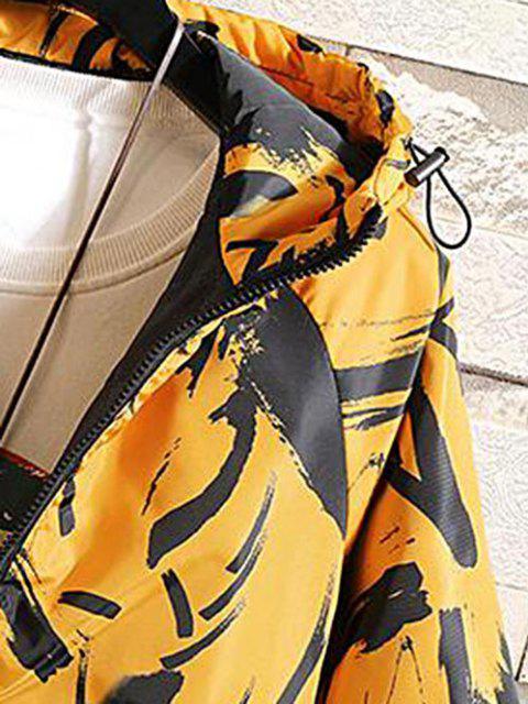 Veste Matelassée à Capuche Imprimée - Jaune L Mobile