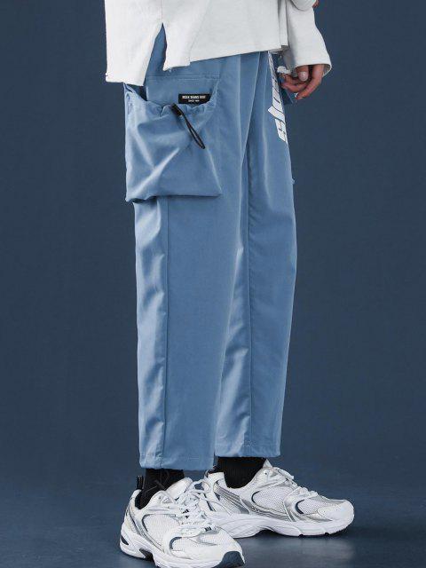 Pantalones Diseño Impreso Letras Tobillas Cordón Ajustable - Azul de Dodgers L Mobile