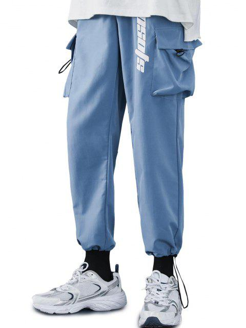 Pantalones Diseño Impreso Letras Tobillas Cordón Ajustable - Azul de Dodgers M Mobile