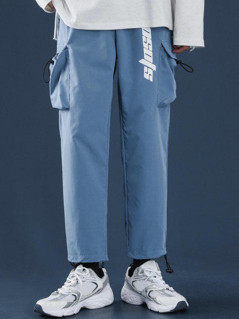 Pantalones Diseño Impreso Letras Tobillas Cordón Ajustable - Azul de Dodgers XS Mobile