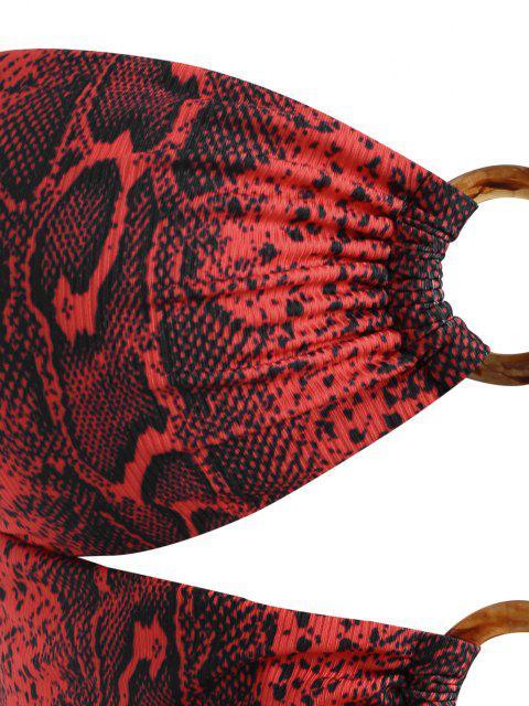 ZAFUL Tankini com Nervuras de Tamanho Grande - Vermelho escuro XL Mobile