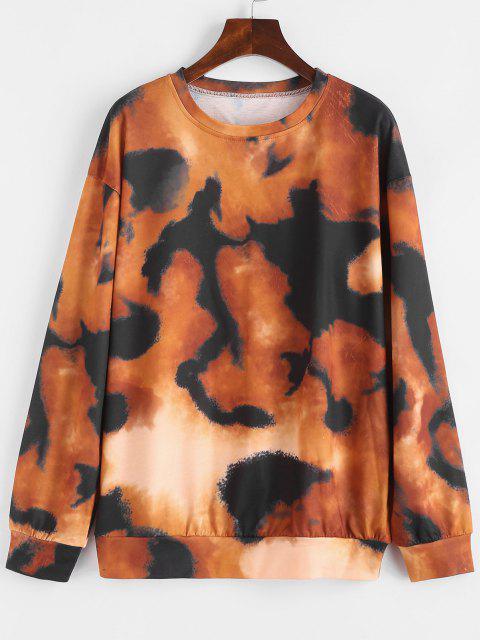 Loose Drop Shoulder Tie Dye Sweatshirt - متعدد S Mobile