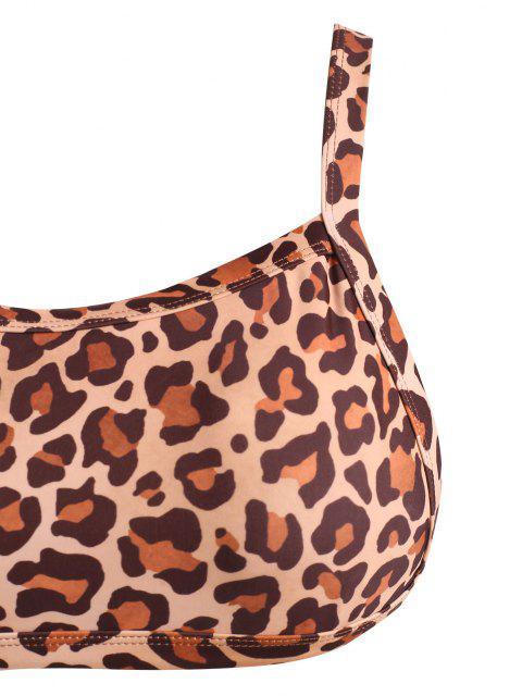 ZAFUL Maillot de Bain Bikini Débardeur Léopard Animal de Grande Taille - café XXXL Mobile