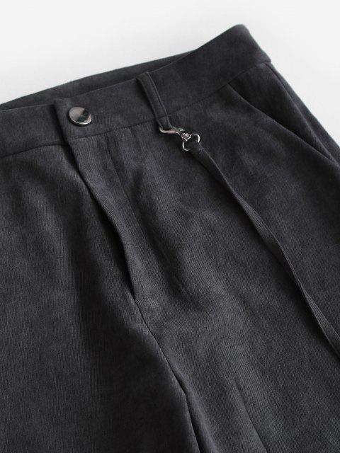 ZAFUL Taschen Hoch Taillierte Hose mit Weitem Bein - Schwarz L Mobile