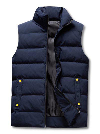 Zip Up Padded Vest - Deep Blue Xl