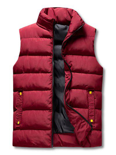 Zip Up Padded Vest - Red Wine 2xl