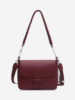 Braid Strap Cover Shoulder Bag - Red Wine