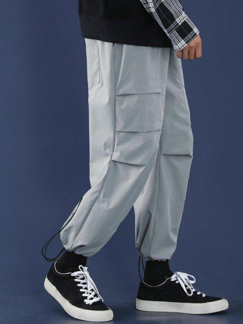 Pantalones Casual Estampado Letras Texto - Gris Claro M Mobile