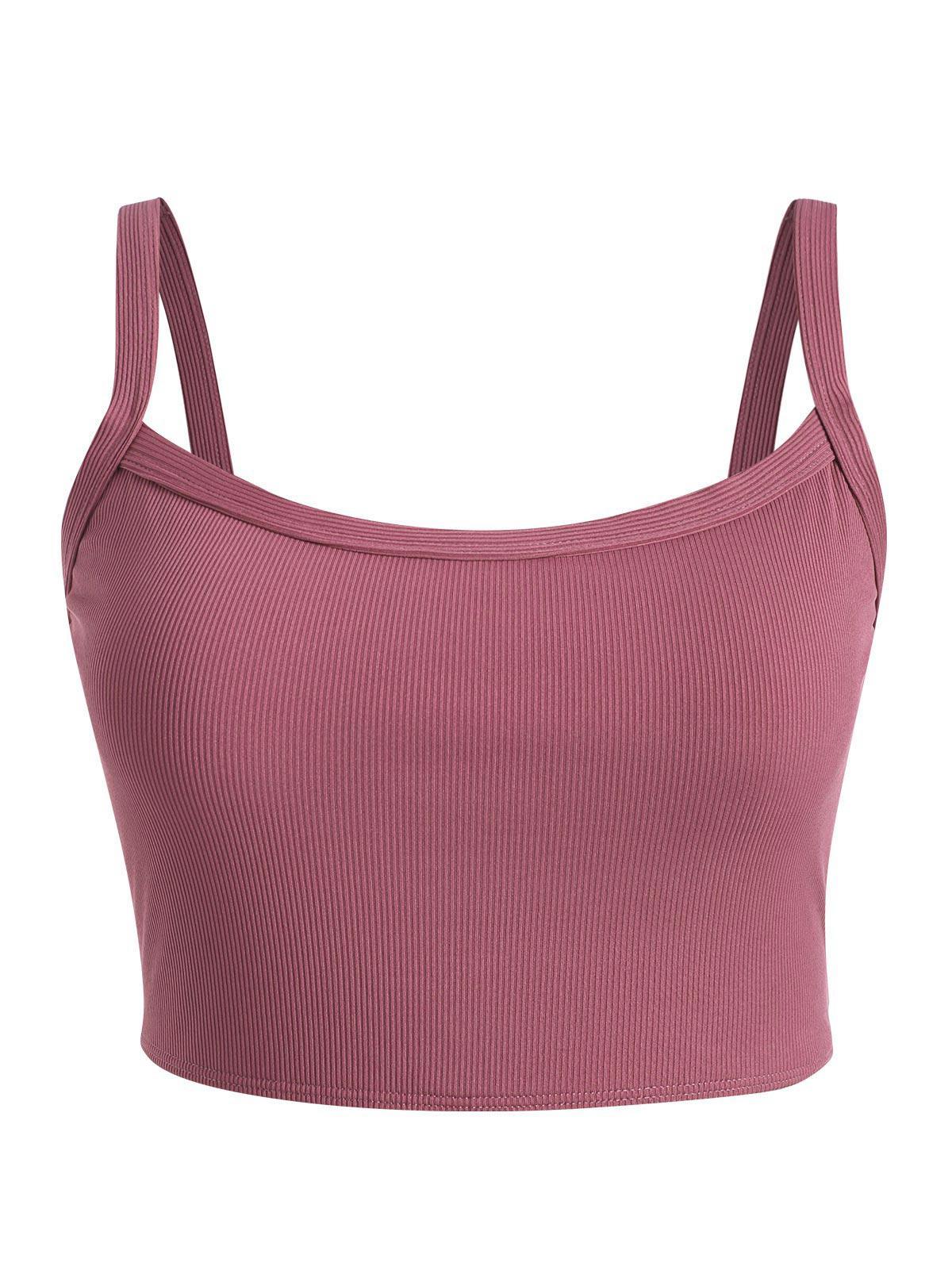ZAFUL Plus Size Basic Ribbed Bikini Top