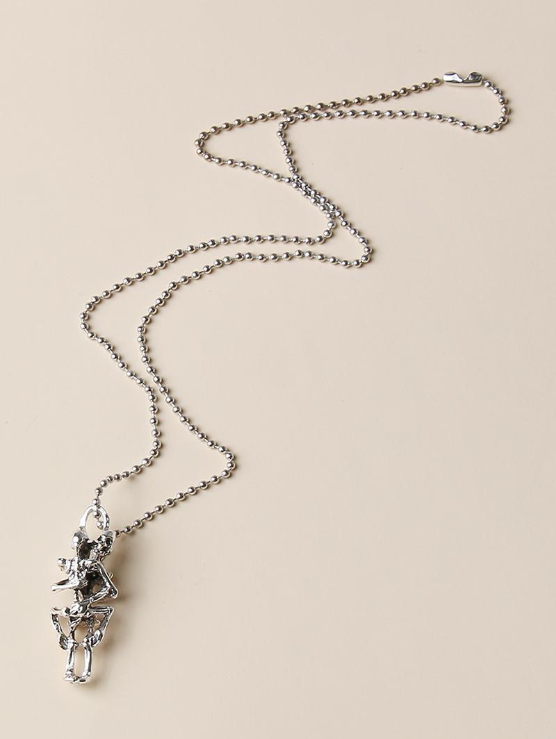 zaful Punk Skeleton Pendant Necklace