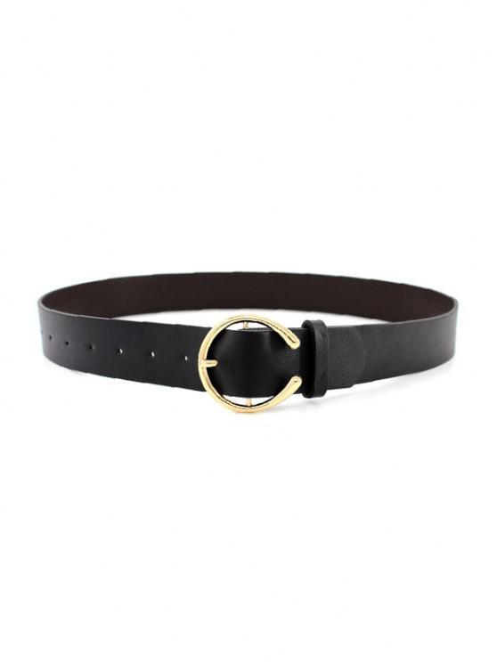 shops C Shape Pin Buckle Dress Belt - BLACK