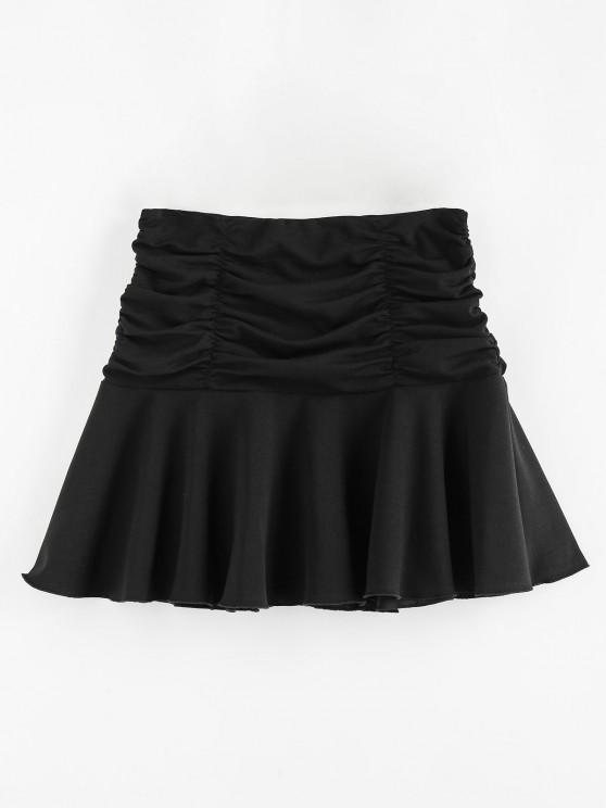 ZAFUL Ruched Mini Flared Skirt - أسود M