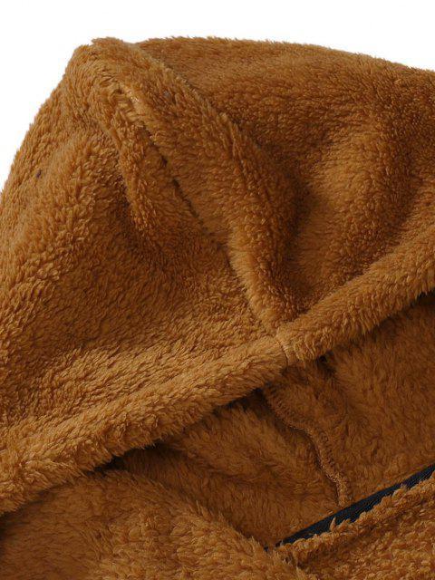 Flauschiges Hoodie mit Reißverschluss - Schwarz XXL Mobile