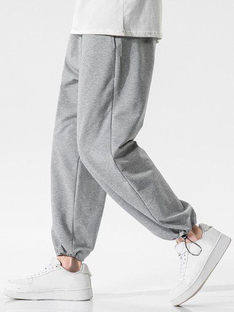 sale Pockets Toggle Drawstring Hem Sweatpants - GRAY CLOUD 3XL Mobile