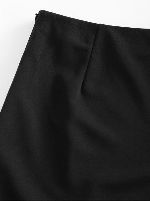 lady ZAFUL Paper Clip Grommet Mini Skirt - BLACK XL Mobile