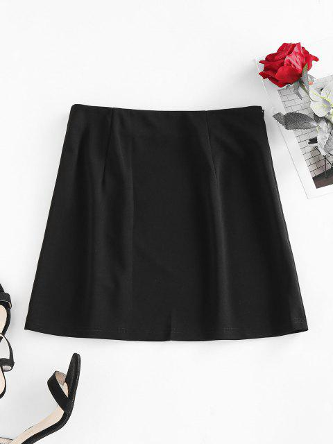 trendy ZAFUL Paper Clip Grommet Mini Skirt - BLACK S Mobile