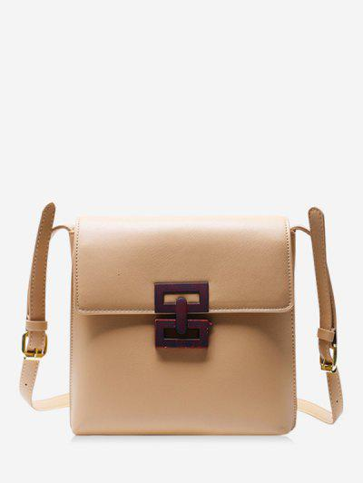 Hollow Geo Square Crossbody Bag - Khaki