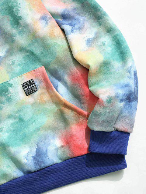 ZAFUL Sudadera con Capucha de Tie-dye con Estampado de Teñido Colores - Multicolor XL Mobile