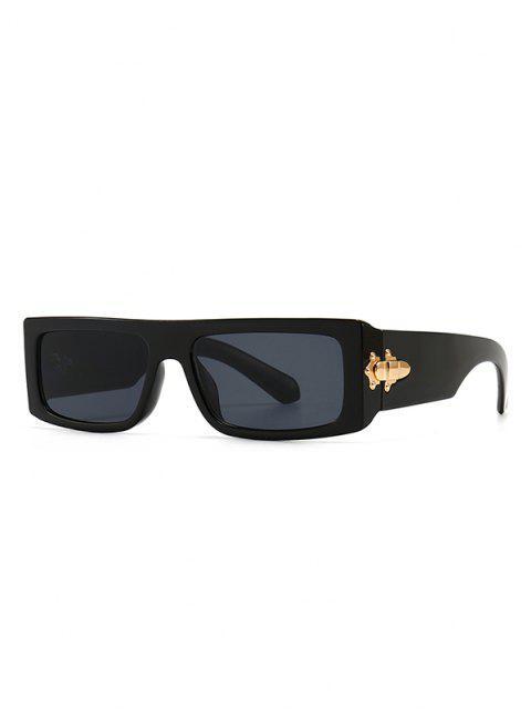 shops Classic Square Shape Sunglasses - BLACK  Mobile