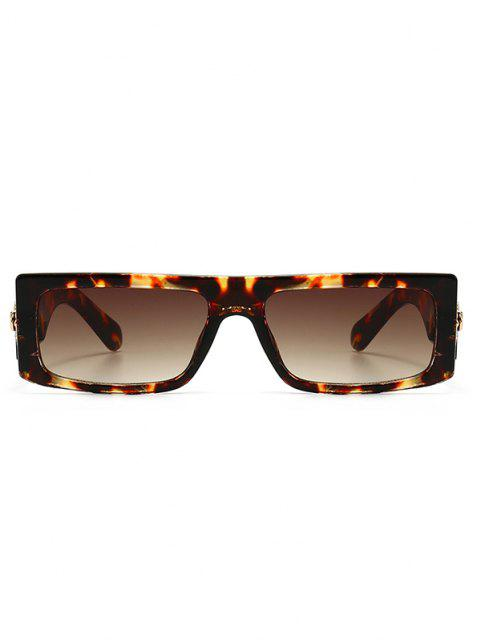 latest Classic Square Shape Sunglasses - LEOPARD  Mobile