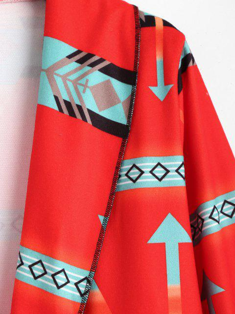 Abrigo Largo Cuello Vuelto Diseño Línea Larga - Rojo S Mobile