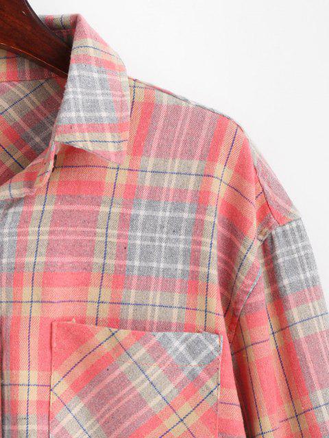 Camisa Bolsillo a Cuadros - Sandía Rosa S Mobile