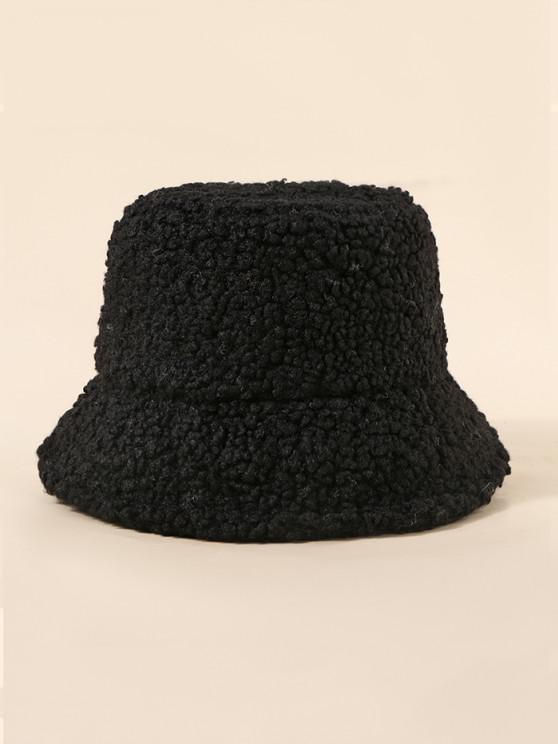 new Teddy Faux Fur Bucket Hat - BLACK