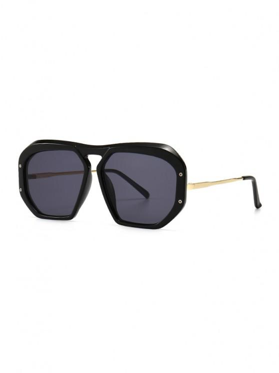 trendy Retro Anti UV Optical Sunglasses - BLACK