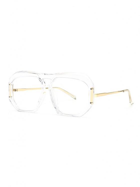 fancy Retro Anti UV Optical Sunglasses - TRANSPARENT