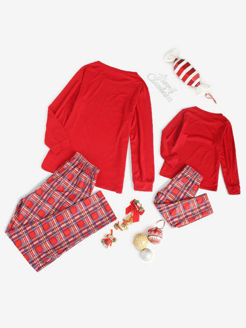 trendy Family Christmas Plaid Pajama Set - RED 3T Mobile
