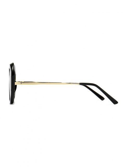 Retro Anti UV Optical Sunglasses - أسود  Mobile