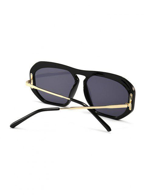 Óculos De Sol Aviador Com Armação Metalizada Dourada Feminino - Preto  Mobile