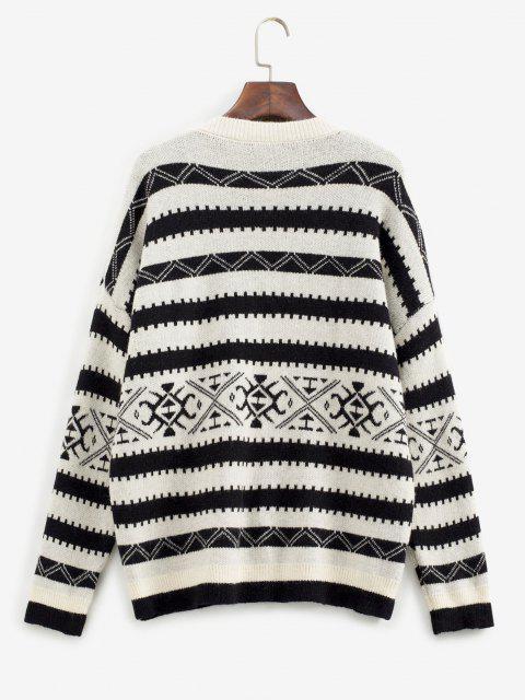 Suéter soltinho gola redonda - Preto Um Tamanho Mobile
