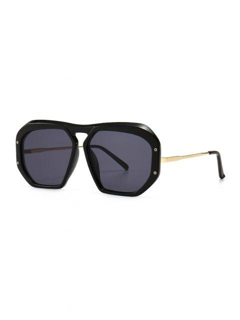 trendy Retro Anti UV Optical Sunglasses - BLACK  Mobile