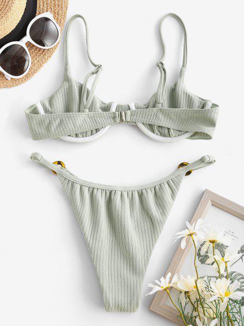 Bikini a Costine con Ferretto di ZAFUL - Verde S Mobile