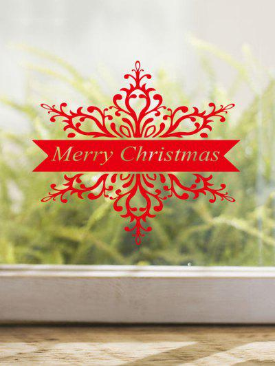 Merry Christmas Print Decorative Wall Art Stickers - Red 43x38