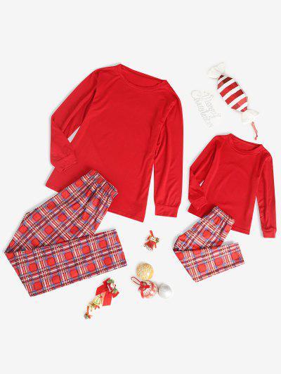 Family Christmas Plaid Pajama Set - Red 6t