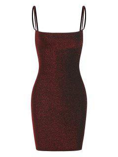 Vestido Al Cuerpo Espalda Abierta Acanalada - Rojo L