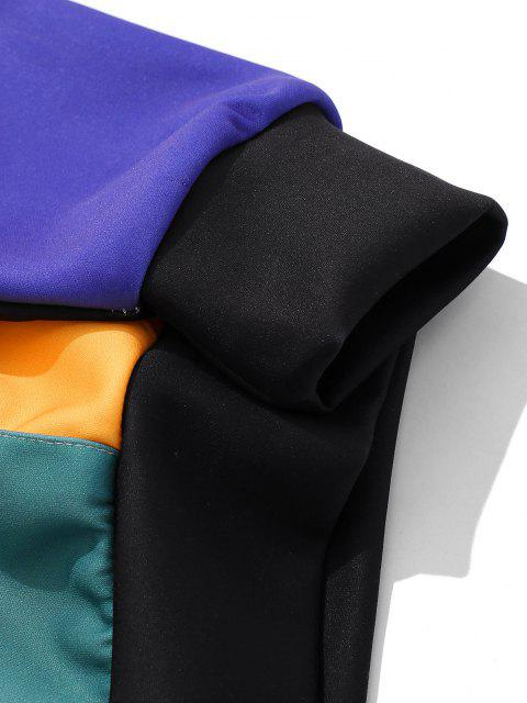 new Colorblock Front Pocket Lounge Hoodie - BLUE 2XL Mobile