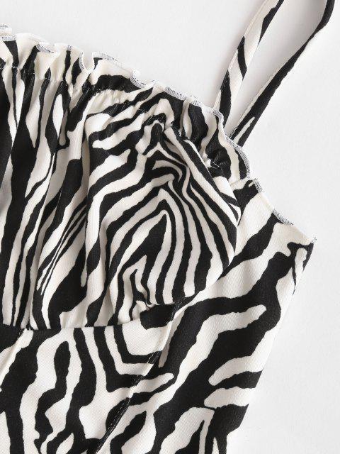Camisole Corto con Stampa Zebrata - Bianca Latte S Mobile