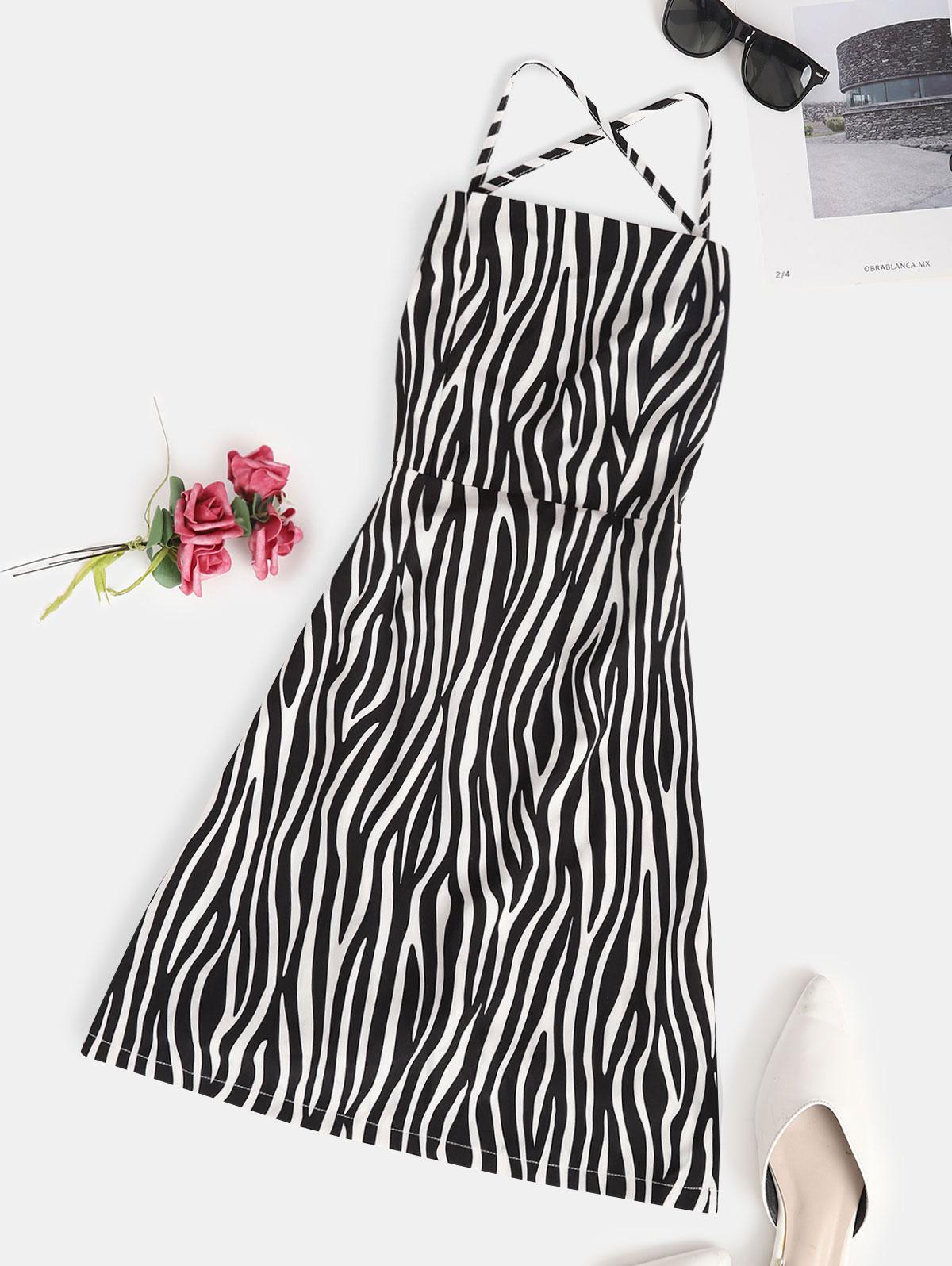 Zaful Zebra Print Dress