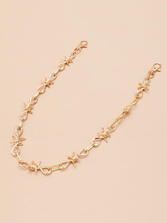 shops Hollow Knot Shape Trousers Chain - GOLDEN