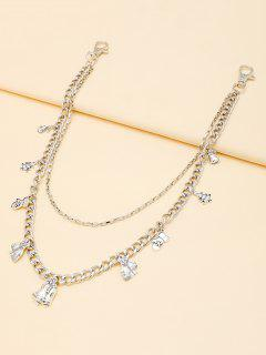 Christmas Tree Pendant Layers Trousers Chain - Silver