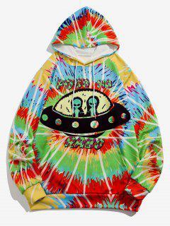 ET UFO Spiral Tie Dye Print Hoodie - Blue Ivy Xl